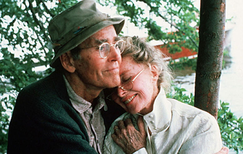 On Golden Pond, Henry Fonda and Katharine Hepburn