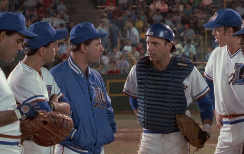 Kevin Costner and Tim Robbins in Bull Durham