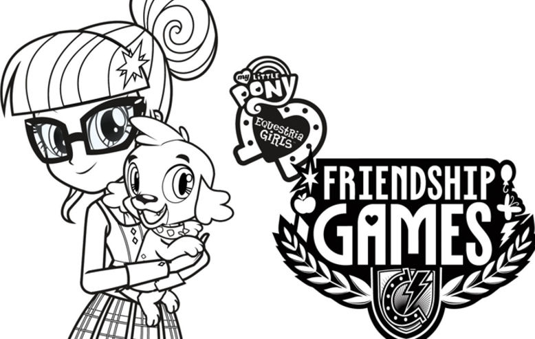 My Little Pony Coloring Pages Friendship Games : My little pony equestria girls friendship games coloring sheets shout factory