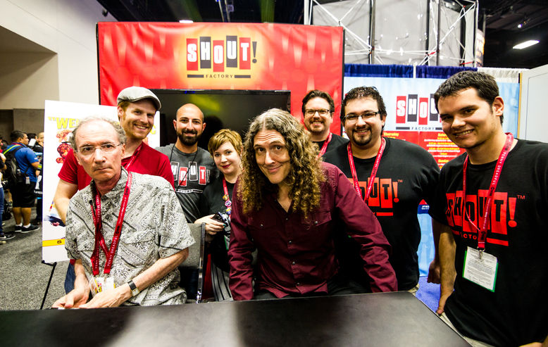"""Weird Al"" Yankovic and the Shout! Factory staff at Comic-Con"
