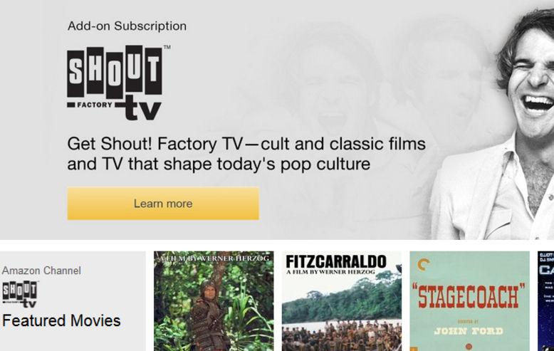 Shout! Factory TV on Amazon Prime