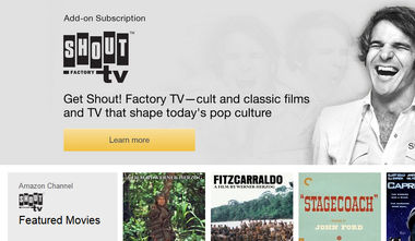 Shout! Factory TV on Amazon Prime